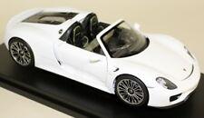 NEX 1/18 SCALA 18051 C PORSCHE 918 SPYDER Aperto Bianco Auto Modello Diecast