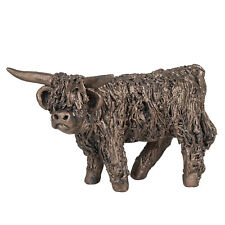 Frith Sculpture - Angus - Highland Cow Standing in Bronze Resin in Gift Box