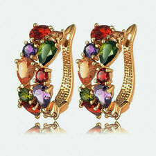 Hot Fashion Crazy Women Lady Elegant Crystal Rhinestone Ear Stud Earrings Gift
