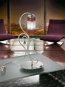 Bedside Lamp Lumetto Classic Crystal Silver Bell Casanova 1881 / Lu