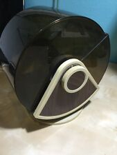 Vintage Covered Executive Rolodex Card File Wood Grain Swivel Base SW-35