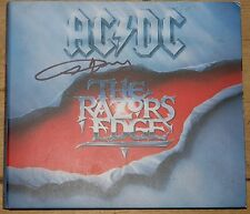 AC/DC ~ RAZORS EDGE ~ ANGUS YOUNG HAND SIGNED CD ALBUM UACC REGISTERED DEALER