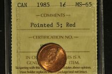 Canada 1985 Penny - Pointed 5 - ICCS - MS65 -