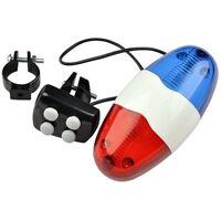 Police / Polizei Sirene - Fahrradsirene mit 6 LED Blinklicht und 4 Tönen NEU