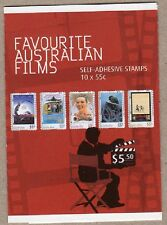 2008 STAMP BOOKLET FAVOURITE AUSTRALIAN FILMS - COMPOSITE - 10 x 55c STAMPS MUH