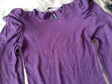 ladies    Purple  soft   jumper  round  neckline size 12  long sleeve