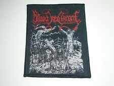 BLOOD RED THRONE DEATH METAL WOVEN PATCH