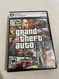 GRAND THEFT AUTO IV GTA 4 PC CD-ROM VIDEO GAME COMPLETE w/MANUAL & MAPS.