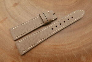 20mm/16mm Taupe Genuine EPSOM CALF Skin Leather Watch Strap Band