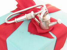 Tiffany & Co Silver Watering Can Garden Fire Hose Key Ring Chain