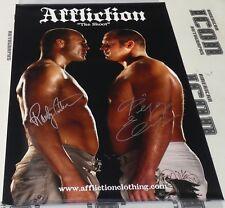 Fedor Emelianenko & Randy Couture Signed The Shoot Affliction Poster BAS COA MMA