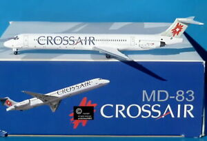 Dragon Wings Crossair MD-83 McDonnell Douglas 1:400 scale diecast model aircraft