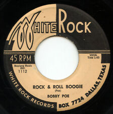 HEAR - Rare Rockabilly 45 - Bobby Poe - Rock & Roll Boogie - White Rock # 1112