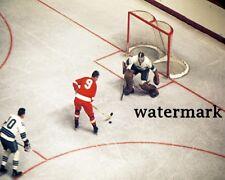 Red Wings Gordie Howe on Breaking vs Golden Seal Color 8 X 10 Photo Picture