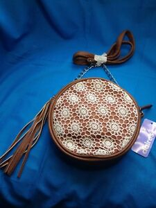 Claire's New Adorable Claire's Round Faux Leather Cross Body Bag
