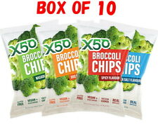 X50 Broccoli Chips 60g x 10 Pack / Sea Salt / BBQ / MIX