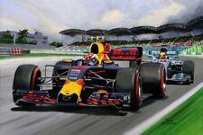 Print on Canvas Max Verstappen wins de Malaysian Grand Prix 2017! Toon Nagtegaal