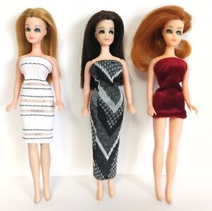 DAWN DOLL CLOTHES Lot of 3 Dresses - Fashions NO DOLLS dolls4emma - Lot A