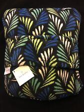New Vera Bradley Fleece Travel Blanket Bandana Fans Soft Plush Trolley Sleeve