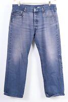 Vintage LEVI'S 501 Button Fly Denim Straight Leg Jeans Mens Size 38X33