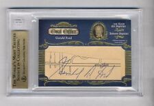 GERALD FORD & JIMMY CARTER 2008 RAZOR OVAL OFFICE AUTO AUTOGRAPH #1/1 PRESIDENT