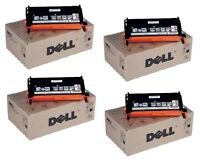 4 Original Toner DELL 3110cn 3115cn / High Capacity PF030 NF556 RF013 Cartridges