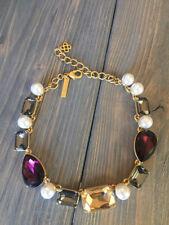 Oscar De La Renta  Crystal And Pearl  necklace signed