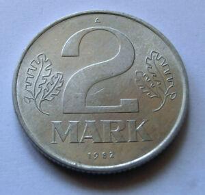 2 Mark DDR GDR  deutsche demokratische Republik Hortungsposten k.Umlauf 1982 A