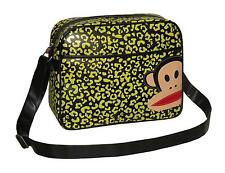 PAUL FRANK - LEOPARD PRINT CABIN/SCHOOL/COLLEGE/SPORTS SHOULDER BAG-YELLOW/BLACK