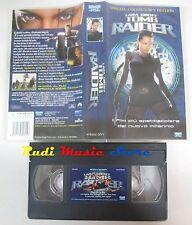 film VHS LARA CROFT TOMB RAIDER A. Jolie 2002 SPECIAL EDITION  (F3**)  no dvd