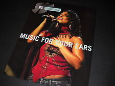 Alicia Keys Music For Your Ears 2005 Promo Display Ad mint condition