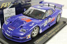 FLY A128 CORVETTE C5R ESPANA GT 2002 NEW 1/32 SLOT CAR IN DISPLAY CASE