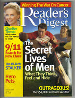 CHARLIZE THERON Reader's Digest Magazine October 2005 9/11 SEARCH FOR CLUES