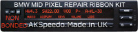 BMW X5 E53 E39 MID Radio LCD Display Pixel Repair Non Bond Ribbon