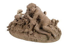 Clodion -Bacchus & Satyrs w/Grapes & Wine-19th c. Terracotta sculpture -Signed