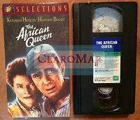 ☀️ The African Queen VHS Humphrey Bogart Katharine Hepburn MINT