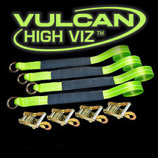 VULCAN Car Tie Down 12' Lasso Strap Wrecker Car Hauler Tow Dolly Reflective