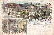 Leutewitz bei Dresden Gasthof  Litho Postkarte 1908