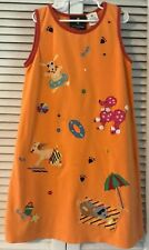 GIRLS Size 10  MICHAEL SIMON BOUTIQUE RAINBOW DOG EMBROIDERED DRESS