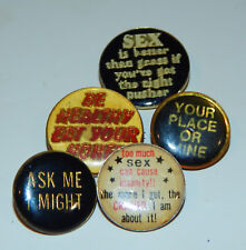 (5) 1980's Sex Theme Enamel Pin Lot #2