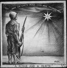 "A Pledge & A Prayer Peace on Earth NARA USA World War 2  Poster 8x8""  Reprint"