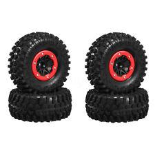 4pcs 2.2''Inch Beadlock Rim Rubber Tyre Tire Wheel Set For 1/10 RC Crawler Axial