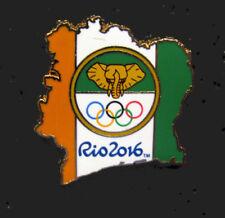 2016 Rio Brazil 31st Summer Olympic Noc Ivory Coast Delgation Team Elephant pin