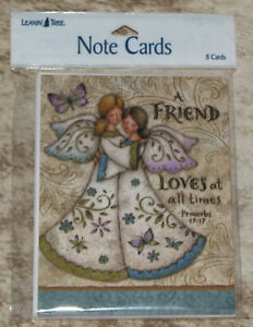 LEANIN TREE A Friend Loves at all Times~Proverbs #35557~8 Notecards~Blank Inside