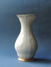 Rosenthal SANSSOUCI  Vase  Elfenbein,  breiter Goldrand,  Höhe ca. 20 cm