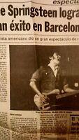 Bruce Springsteen. Concierto En Barcelona. Años 80.