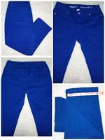 🌈 Westport Sz 8 Petite Denim Capri Mid Rise Royal Blue Signature Fit Stretch EC