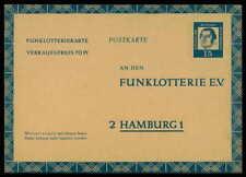 BERLIN GANZSACHE GA FUNKLOTTERIE-POSTKARTE MARTIN LUTHER LUTERO h1812