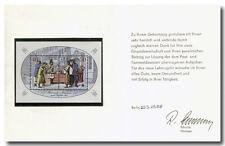 DDR 1988, Ministerkarte zum Geburtstag mit Originalunterschrift