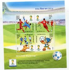 INDIA STAMP 2014 FIFA WORLD CUP BRAZIL SPORT S/S SHEET